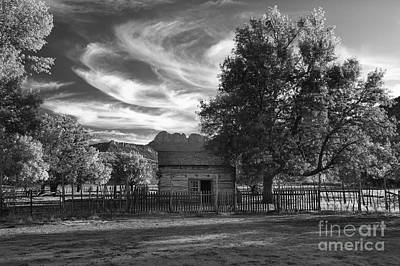 Infared Photograph - Sunset In Grafton Ghost Town by Sandra Bronstein