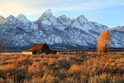Sunset In Grand Teton National Park Original