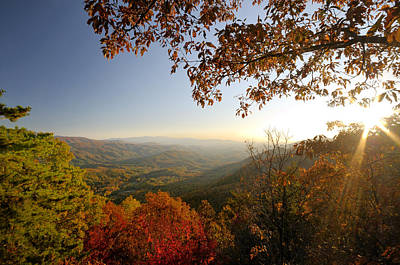 Sunset In Great Smoky Mountains Art Print by Darrell Young