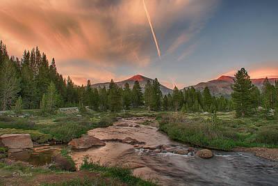 Sunset In High Sierra Art Print