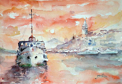 Painting - Sunset In Istanbul... by Faruk Koksal