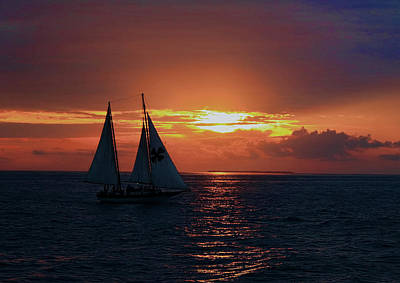 Photograph - Sunset In Key West by Ron Grafe