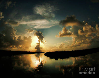 Sunset In Lacombe, La Art Print