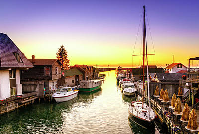 Photograph - Sunset In Leland, Michigan by Alexey Stiop
