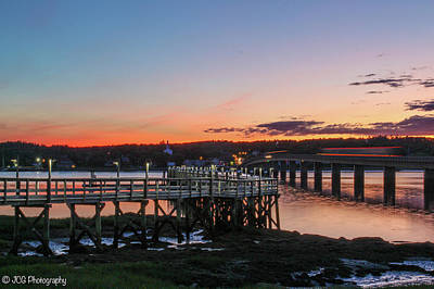 Edgecomb Photograph - Sunset In Maine by Janice Grabowski