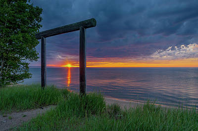 Photograph - Sunset In Marquette by Gary McCormick