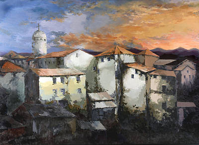 Painting - Sunset In Marseilles by Robert Foster