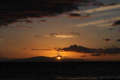 Photograph - Sunset In Maui 2 by Michael Albright