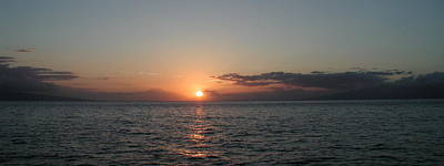 Sunset In Maui Art Print by Bj Hodges