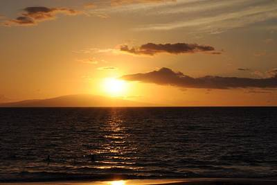Photograph - Sunset In Maui by Michael Albright