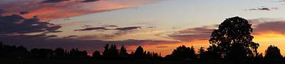 Sunset In Molalla Art Print by Angi Parks