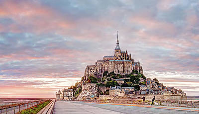 Photograph - Sunset In Mont Saint Michel Panorama Fragment by Weston Westmoreland