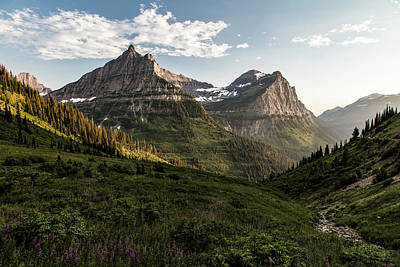 Photograph - Sunset In Montana Glacier National Park  by John McGraw