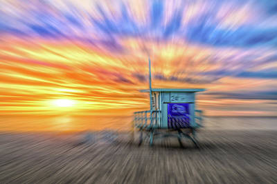 Photograph - Sunset In Motion by Michael Hope
