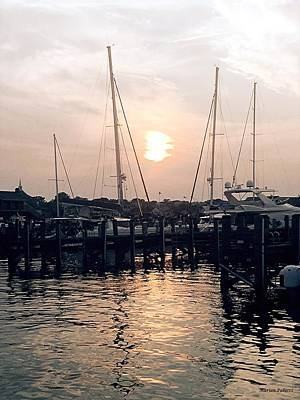 Sunset In Nantucket Art Print