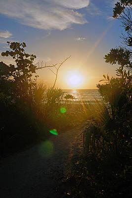 Sunset In Naples At Barefoot Beach Art Print