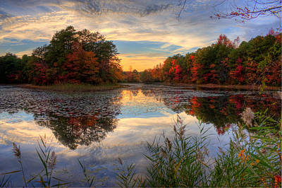 Kevin Hill Photograph - Lake Sunset In New Jersey by Kevin Hill