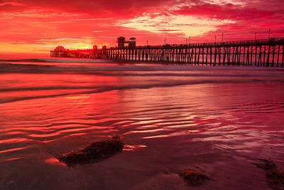 Photograph - Sunset In Oceanside 2 by Ben Graham