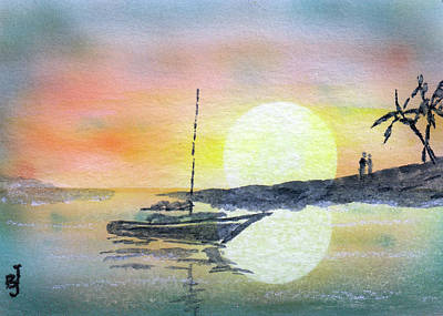 Painting - Sunset In Paradise by Barry Jones
