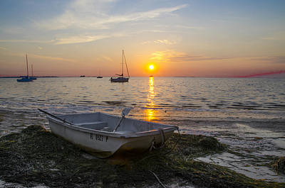 Rowboat Digital Art - Sunset In Paradise by Bill Cannon
