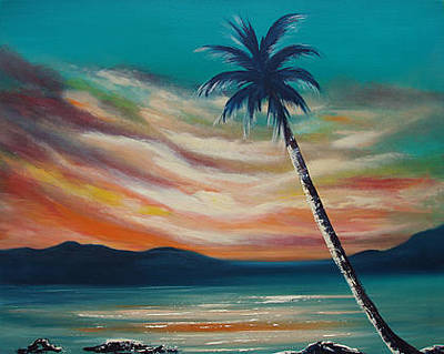 Painting - Sunset In Paradise  by Gina De Gorna