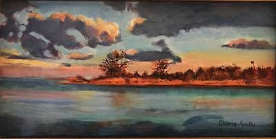 Painting - Sunset In Paradise by Gloria Smith