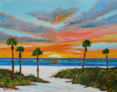 Painting - Sunset In Paradise by Lloyd Dobson