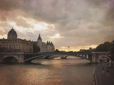 Photograph - Sunset In Paris by Heidi Hermes
