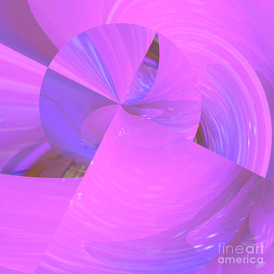 Digital Art - Sunset In Pink Abstract by Mary Machare