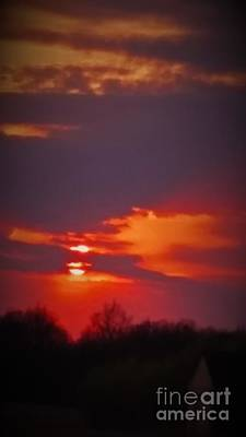 Photograph - Sunset In Red by Deborah DeLaBarre
