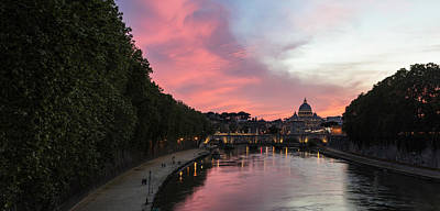 Photograph - Sunset In Rome And Vatican  by John McGraw