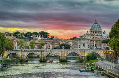 Photograph - Sunset In Rome by Jennifer Ludlum