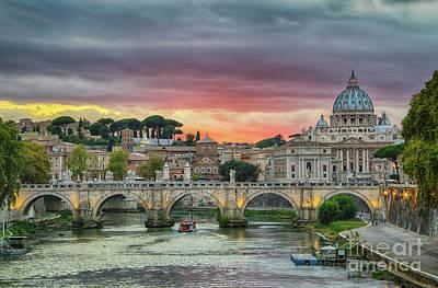 Photograph - Sunset In Rome by Jennifer Ludlum