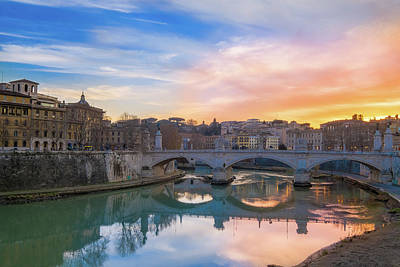 Photograph - Sunset In Rome With Vatican In The Background by Patrick Duarte Silveira
