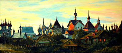 Sunset In Rostov Art Print