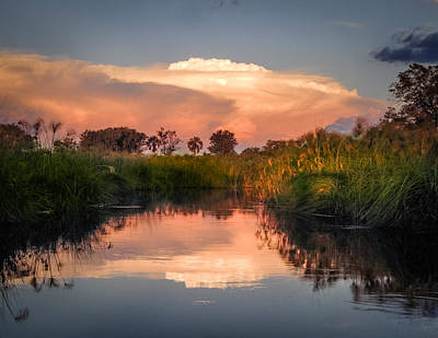 Photograph - Sunset In Sandibe Botswana by Gregory Daley  MPSA