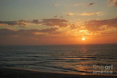Art Print featuring the photograph Sunset In Santa Cruz by Garnett  Jaeger