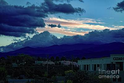 Photograph - Sunset In Santa Fe New Mexico by Diana Mary Sharpton