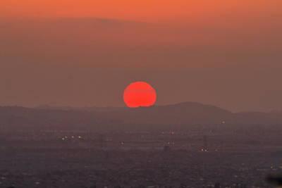 Sunset In Smog Art Print