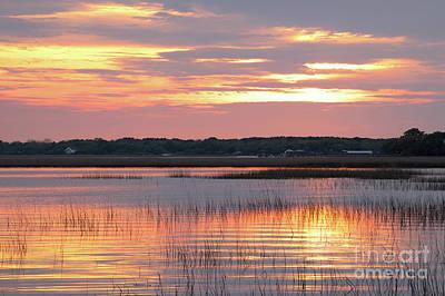 Photograph - Sunset In South Carolina by Benedict Heekwan Yang