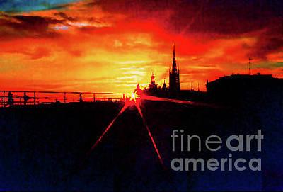 Photograph - Sunset In Stockholm by Elizabeth Hoskinson
