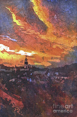 City Sunset Painting - Sunset In Tabor by Ryan Fox