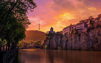 Tbilisi Photograph - Sunset In Tbilisi by John Wright