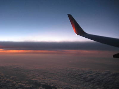 Sunset In The Air Art Print by Renee Antos