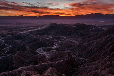 Photograph - Fiery Sunset In The Anza Borrego  by Scott Cunningham