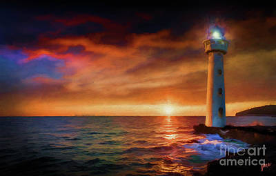 Photograph - Sunset In The Bay by Jim  Hatch