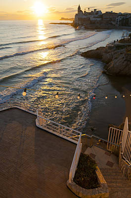 Film Maker Photograph - Sunset In The Beautiful Sitges by Luis Martinez