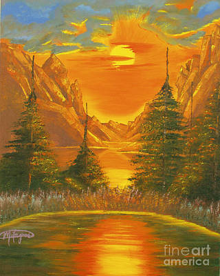 Painting - Sunset In The Canyon 1 by Milagros Palmieri