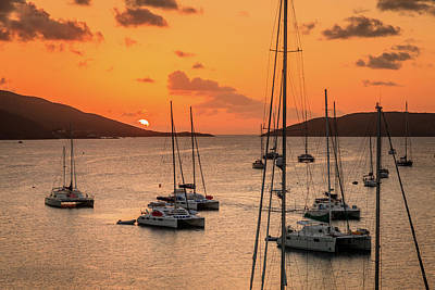 Photograph - Sunset In The Caribbean by Alexey Stiop