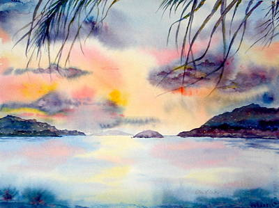 Painting - Sunset In The Caribbean by Diane Kirk